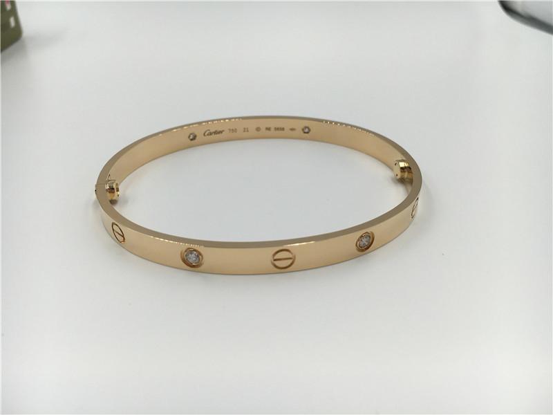 36a90748a9e8 4 Diamonds Cartier Jewelry Love Bracelet In Yellow Gold Ref B6035917