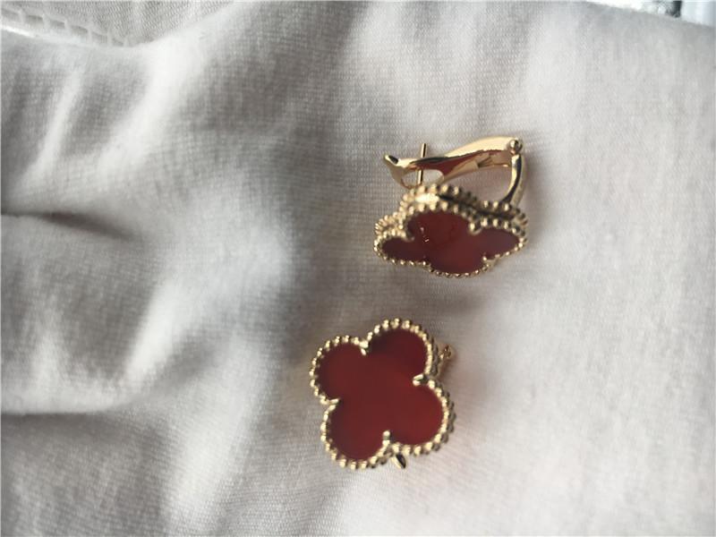 cf60d9d2f Van Cleef Arpels Vintage Alhambra earrings 18k yellow gold with carnelian