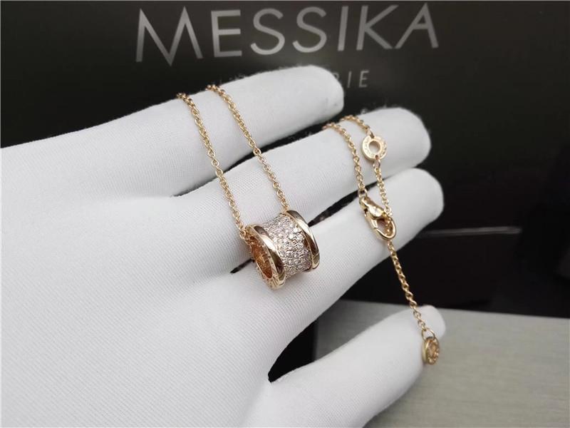 18k yellow gold bvlgari b zero1 necklace with small diamonds 100 18k yellow gold bvlgari b zero1 necklace with small diamonds 100 handmade aloadofball Gallery