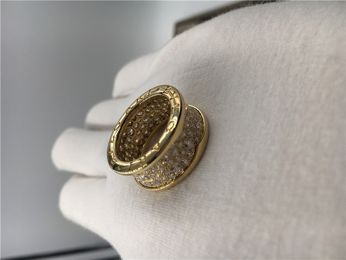 Bvlgari Mens Wedding Bands 18k Yellow Gold Vintage Bvlgari Rings